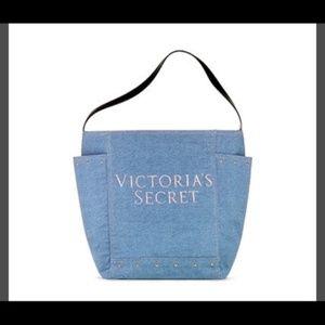 Victoria's Secret Denim Shopper Tote